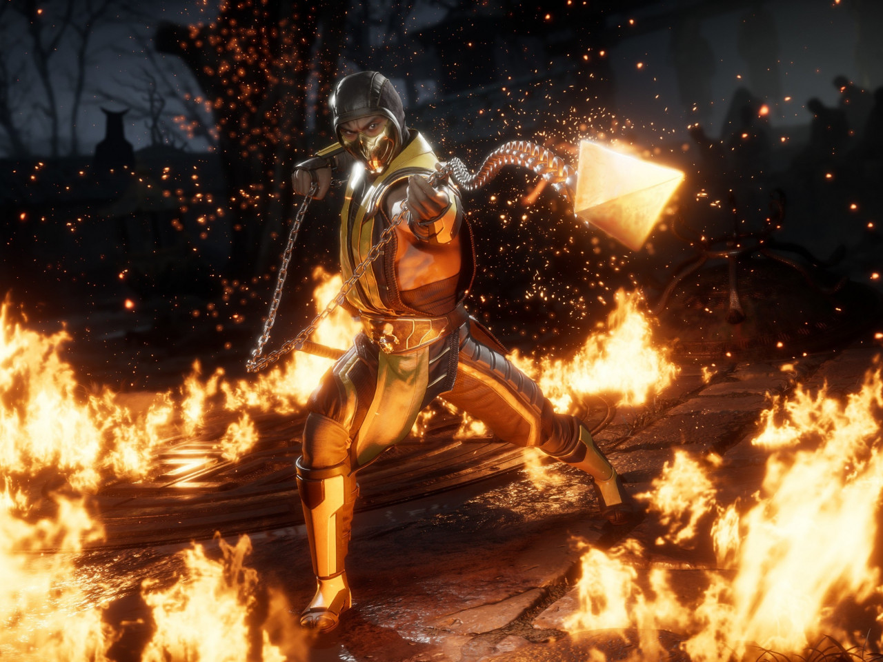 Mortal Kombat 11 Scorpion wallpaper 1280x960