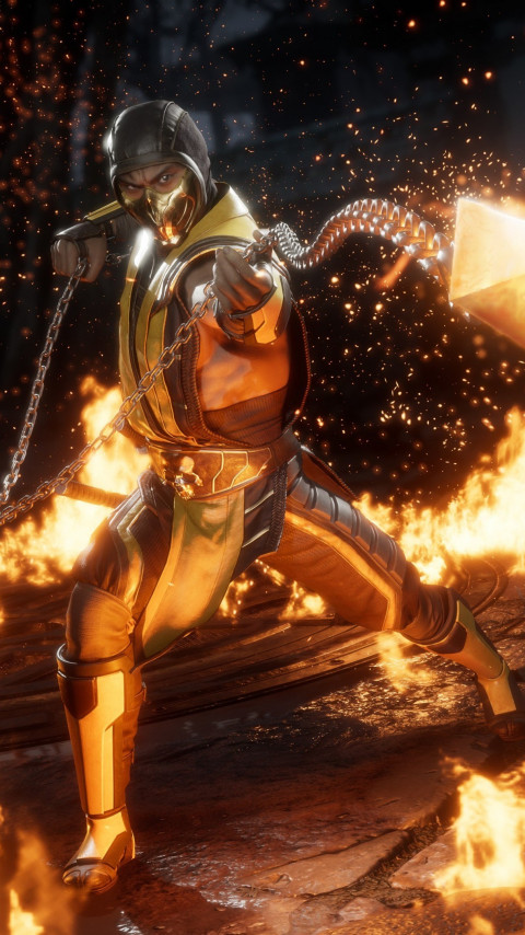 Mortal Kombat 11 Scorpion wallpaper 480x854