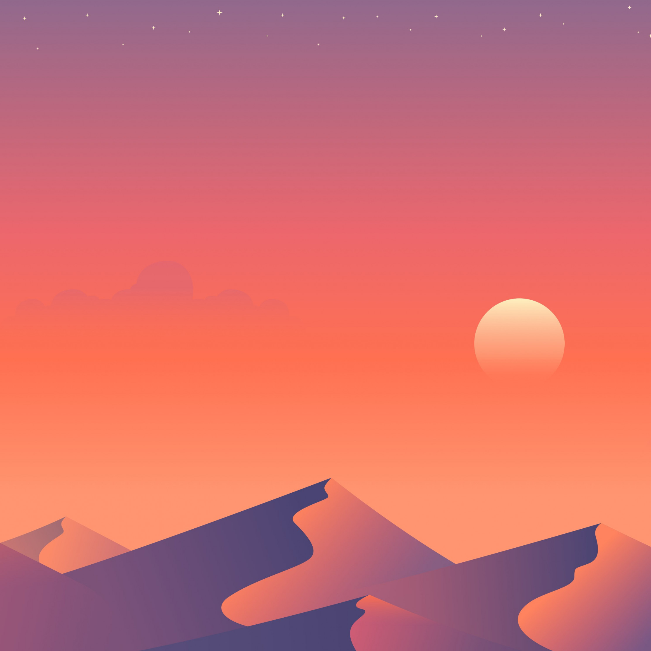 Illustration: Desert nights 2 wallpaper 2224x2224