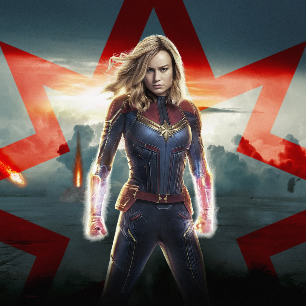 Captain Marvel poster wallpaper 1024x1024