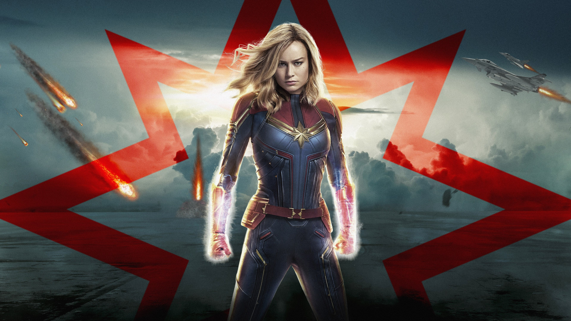 Captain Marvel poster wallpaper 1920x1080