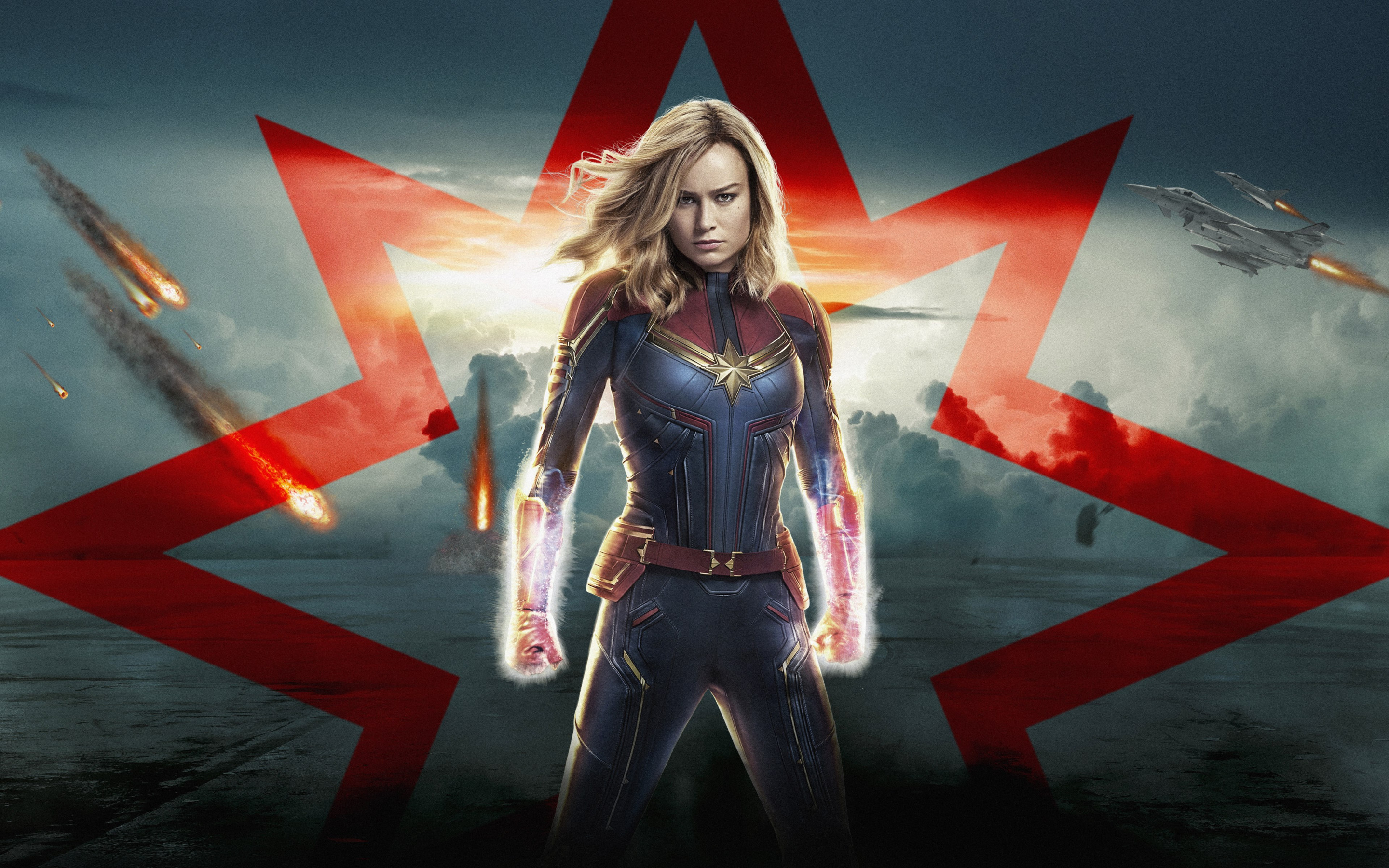 Captain Marvel poster wallpaper 2880x1800