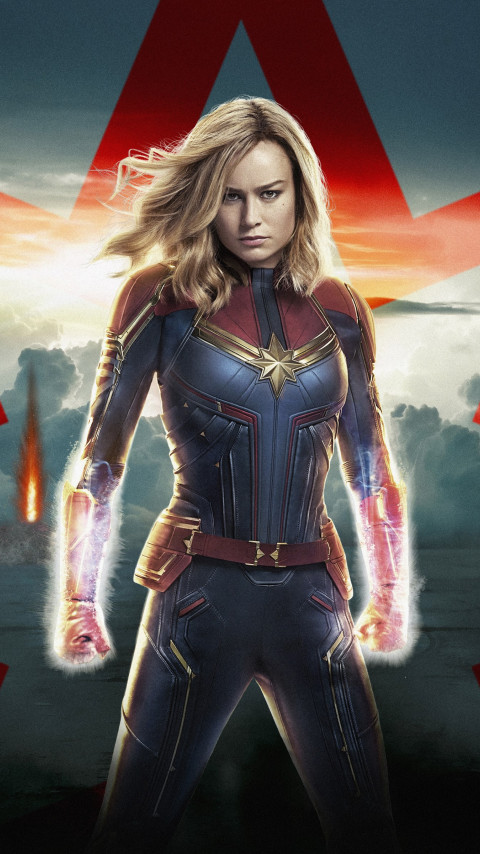 Captain Marvel poster wallpaper 480x854