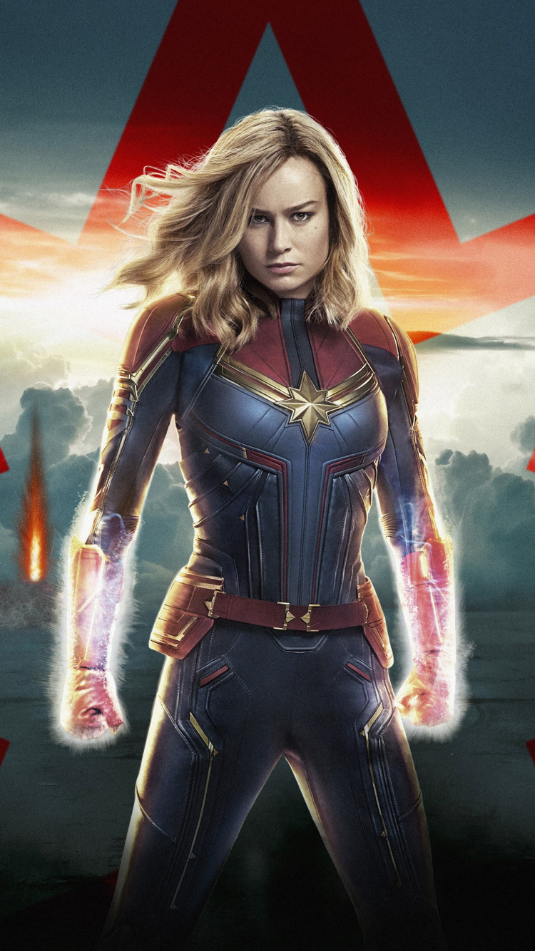 Captain Marvel poster wallpaper 750x1334