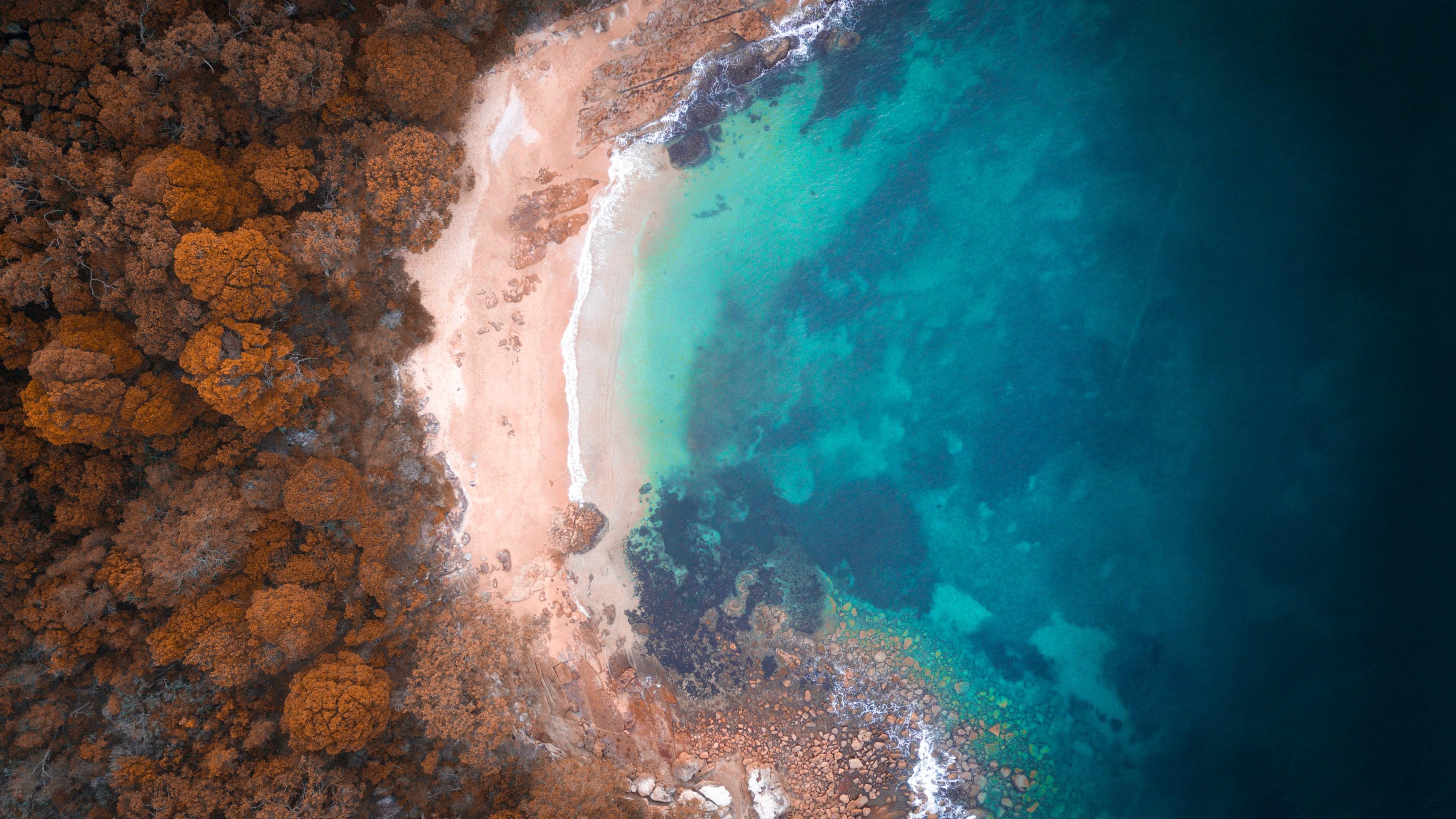 Download wallpaper: Reef beach, Australia 3840x2160