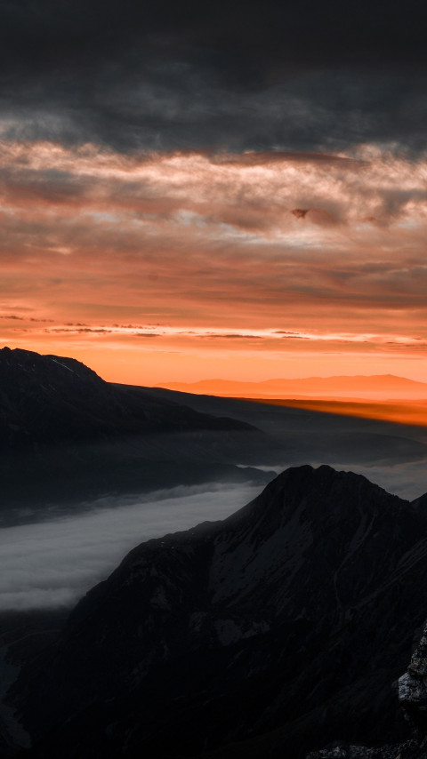 Sunrise over the Hooker Valley, New zealand wallpaper 480x854