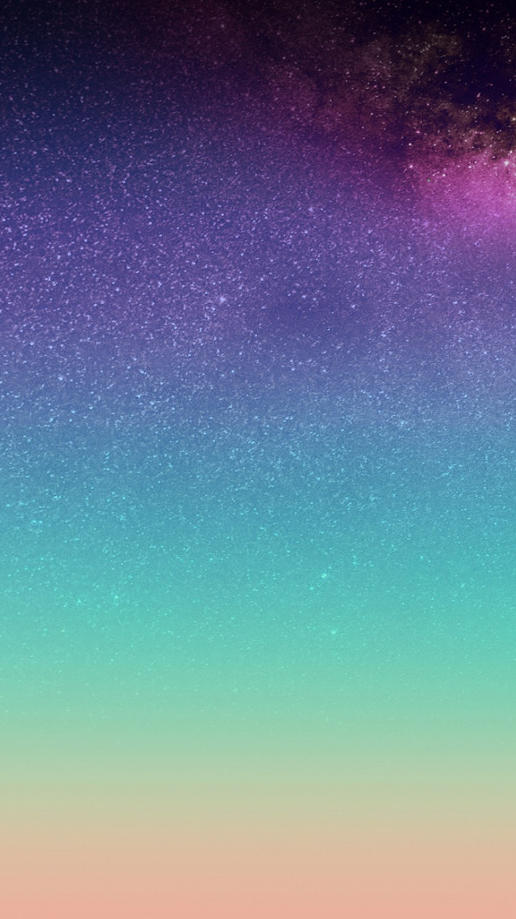 The horizon: Stars on the sky wallpaper 750x1334