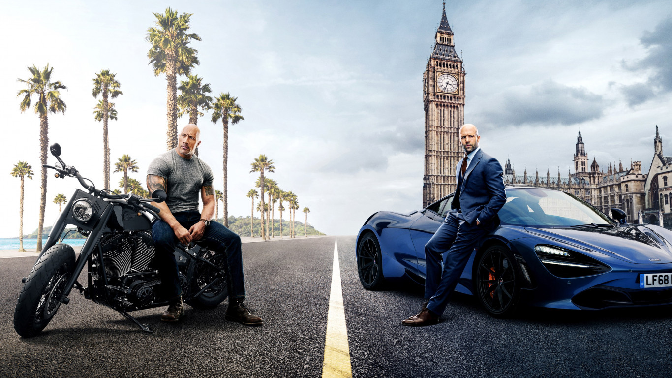 Hobbs and Shaw wallpaper 1366x768