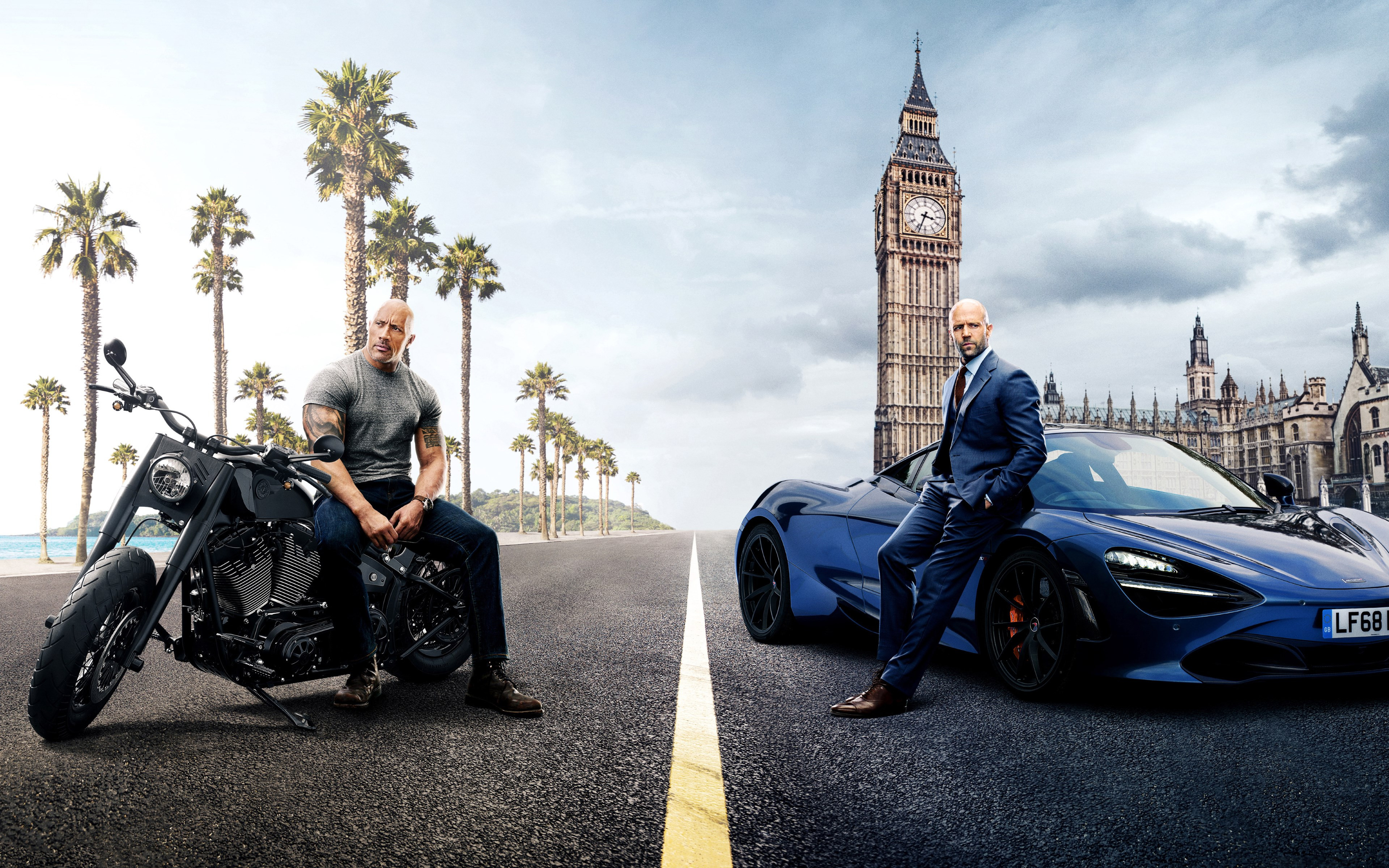 Hobbs and Shaw wallpaper 3840x2400