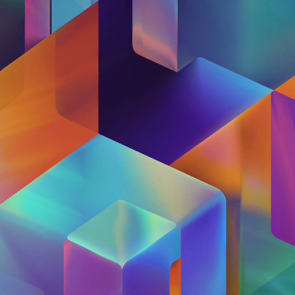 Geometric 3D shapes | 1024x1024 wallpaper
