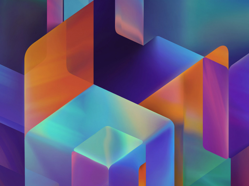 Geometric 3D shapes | 1024x768 wallpaper