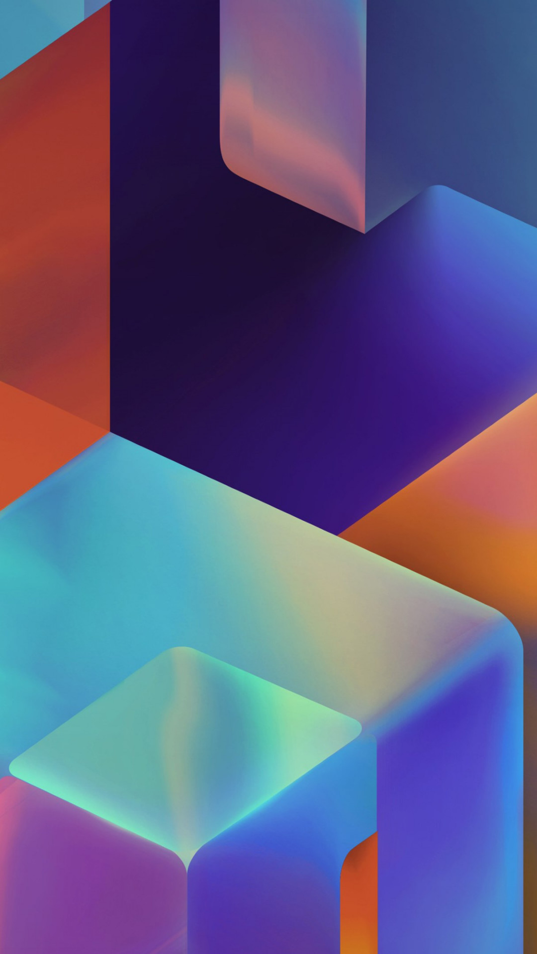 Geometric 3D shapes | 1080x1920 wallpaper