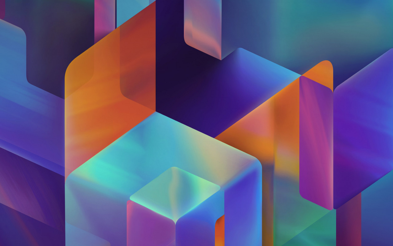 Geometric 3D shapes | 1280x800 wallpaper