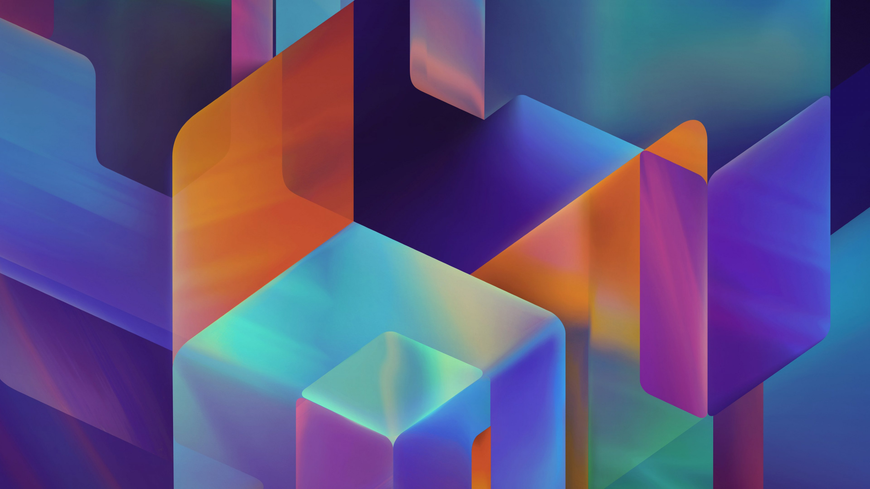 Geometric 3D shapes | 2880x1620 wallpaper