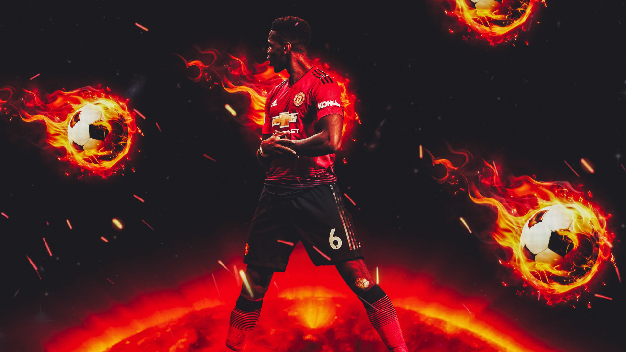 Paul Pogba for Manchester United wallpaper 1280x720