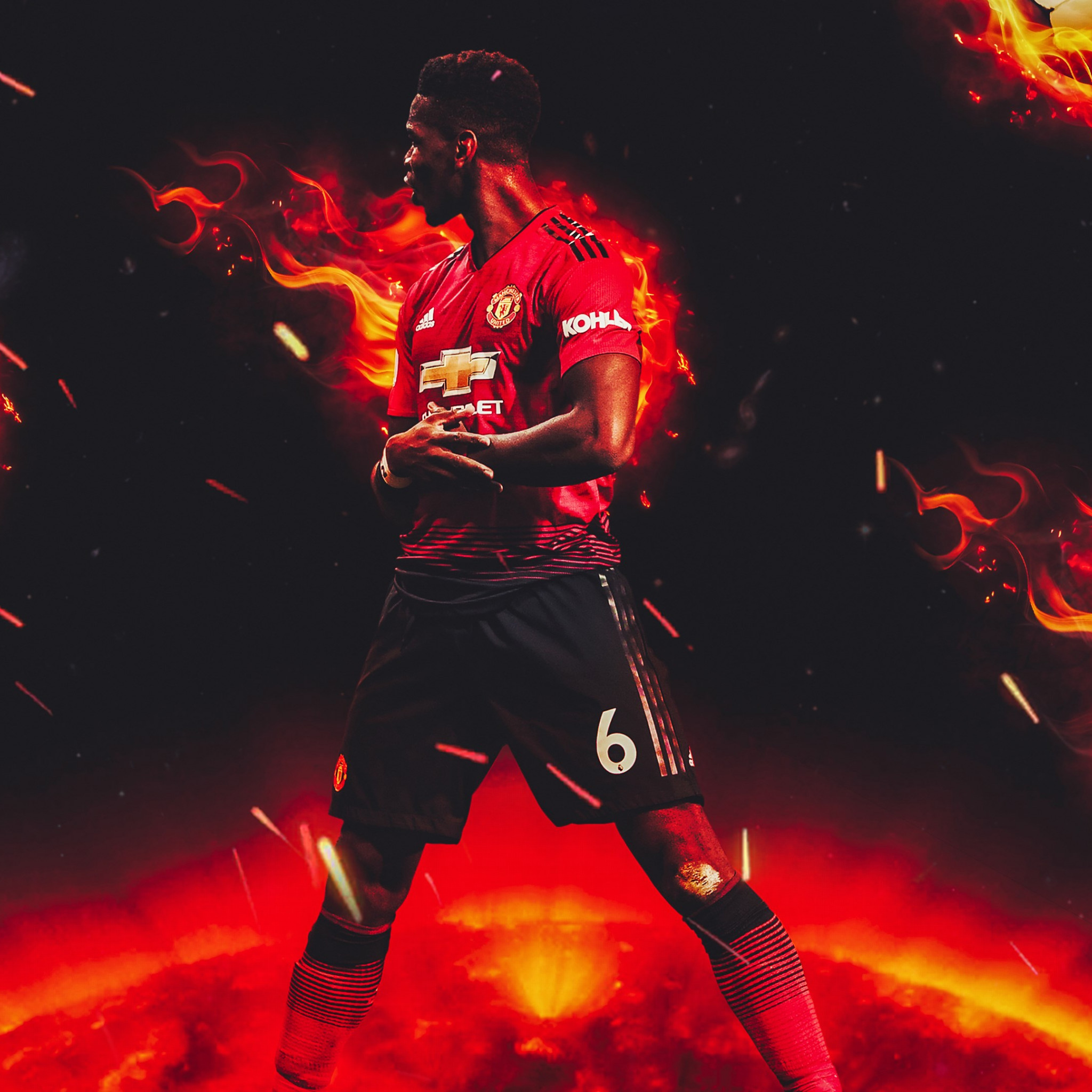 Paul Pogba for Manchester United wallpaper 2048x2048