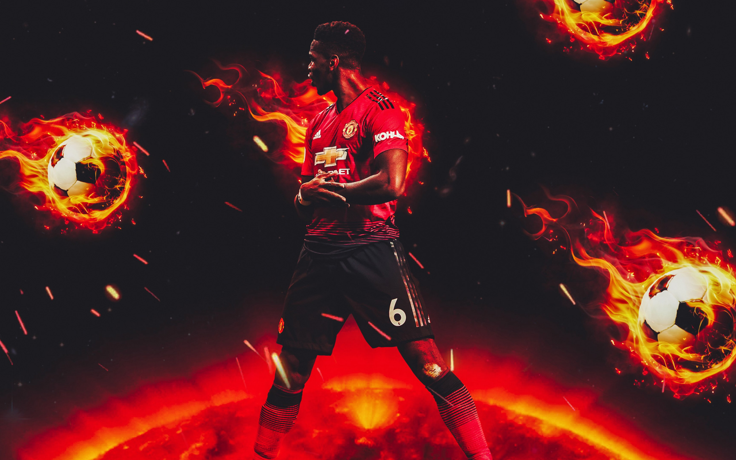 Paul Pogba for Manchester United wallpaper 2560x1600