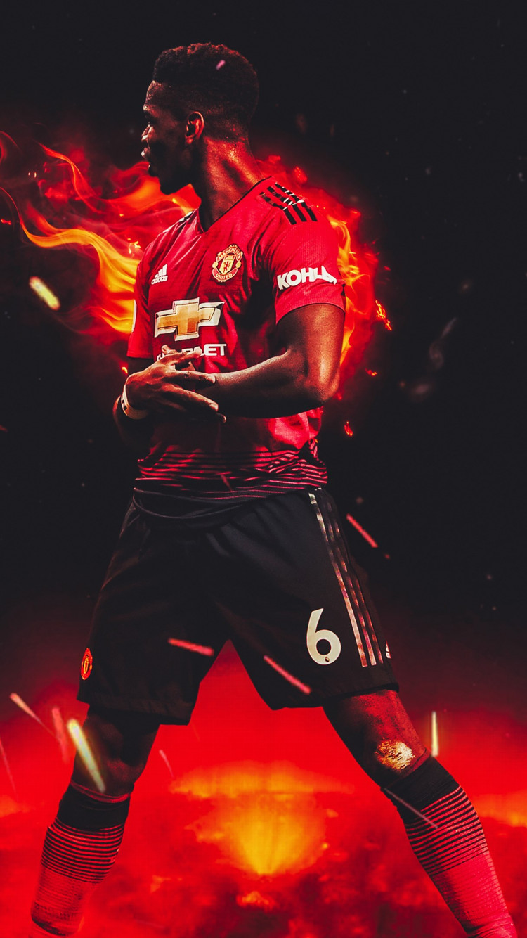 download wallpaper paul pogba for manchester united 750x1334 paul pogba for manchester united 750x1334