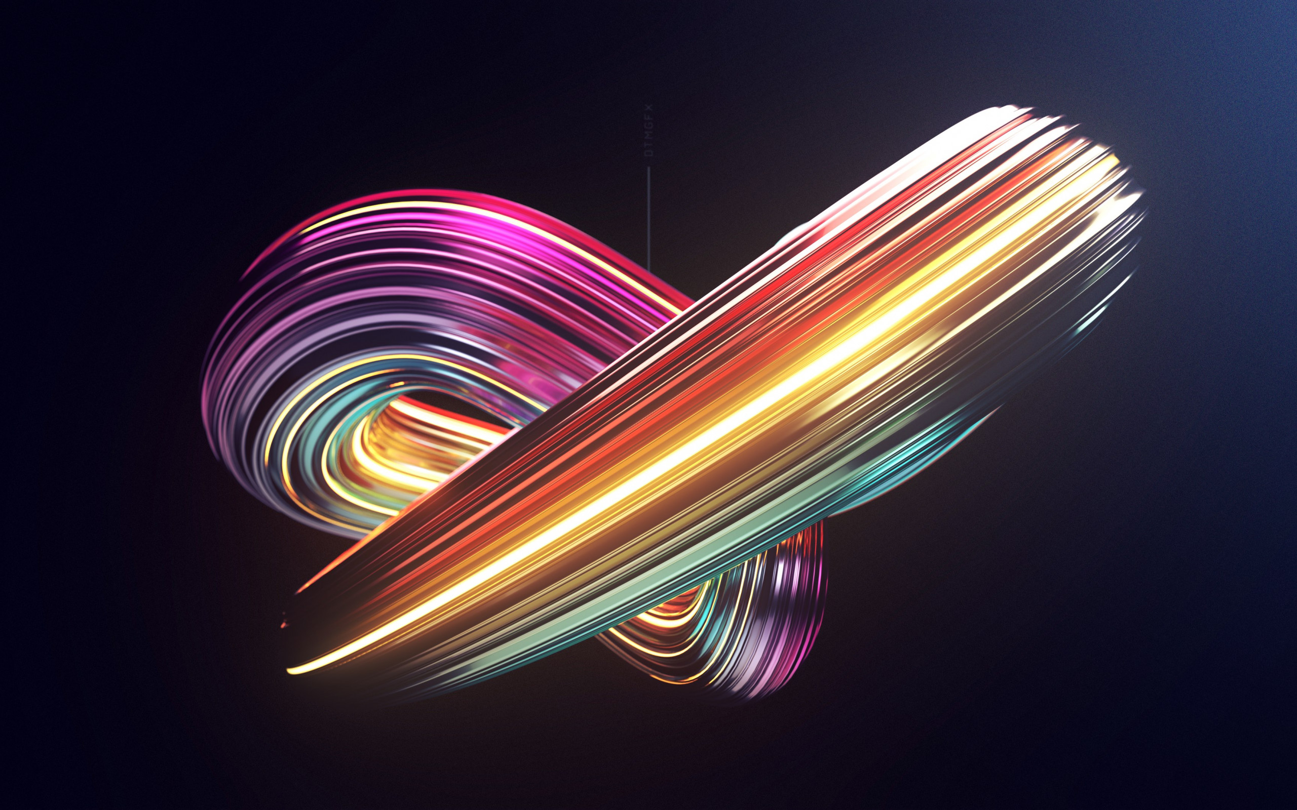 Sweep n Swirl 3D art wallpaper 2560x1600