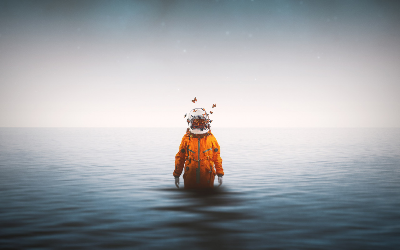 Lonely astronaut wallpaper 1280x800