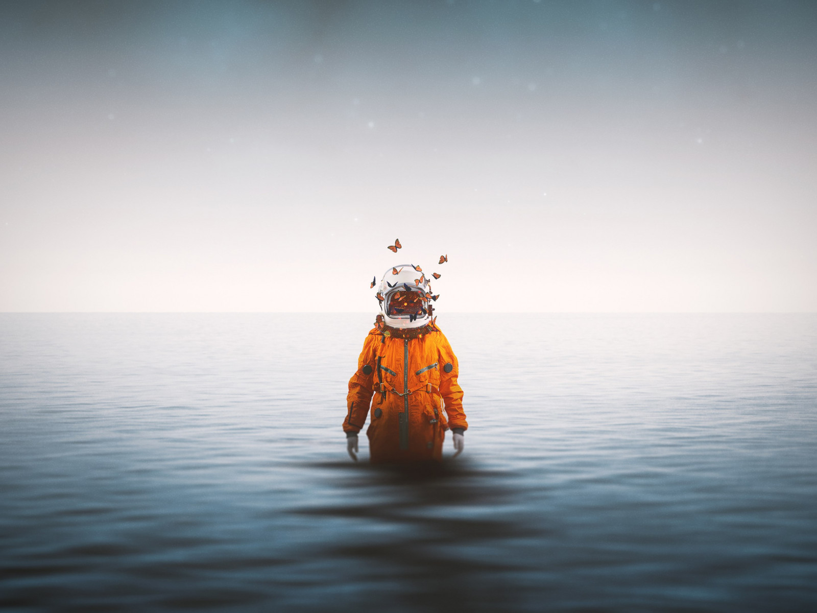 Lonely astronaut wallpaper 1600x1200