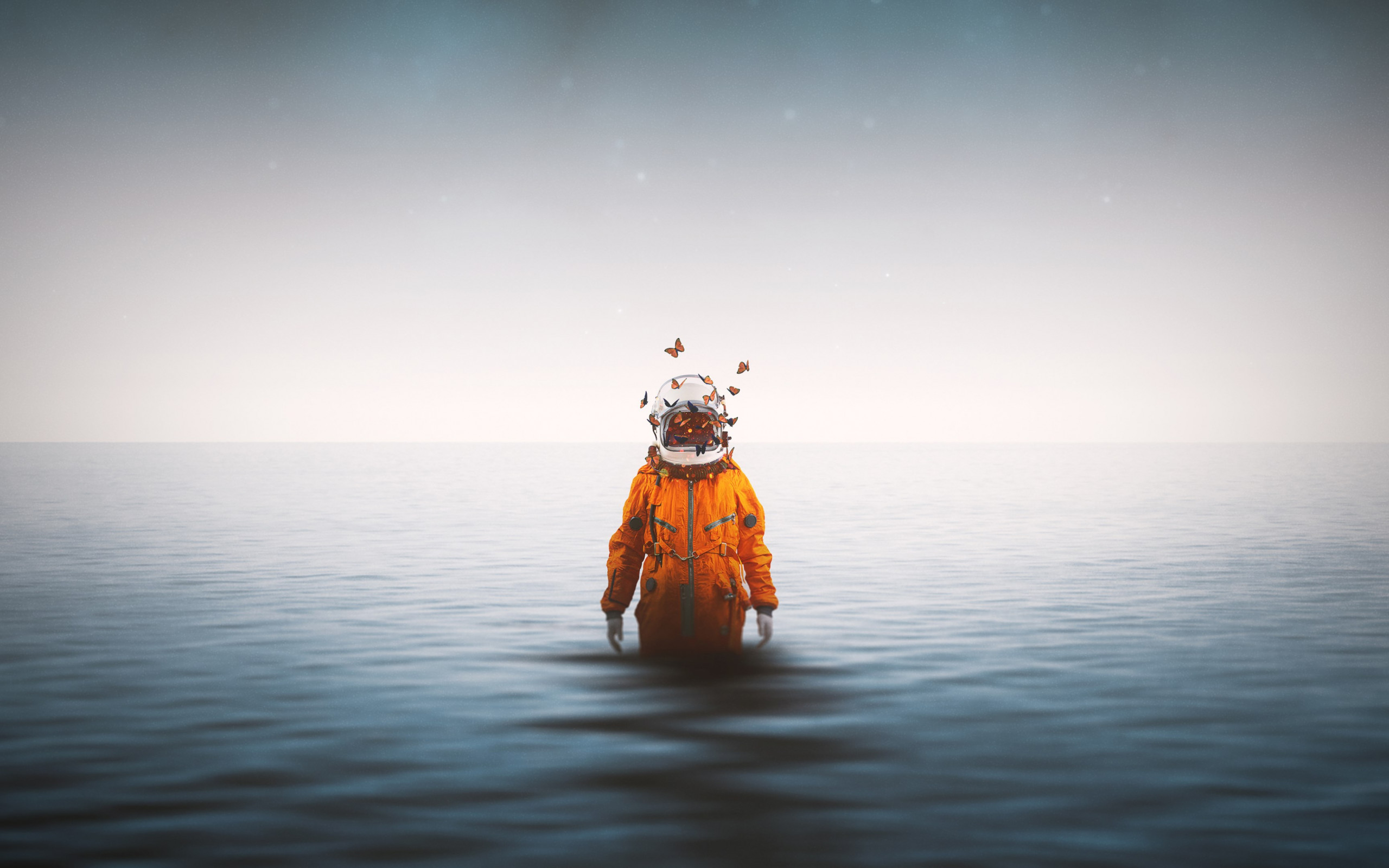 Lonely astronaut wallpaper 2560x1600