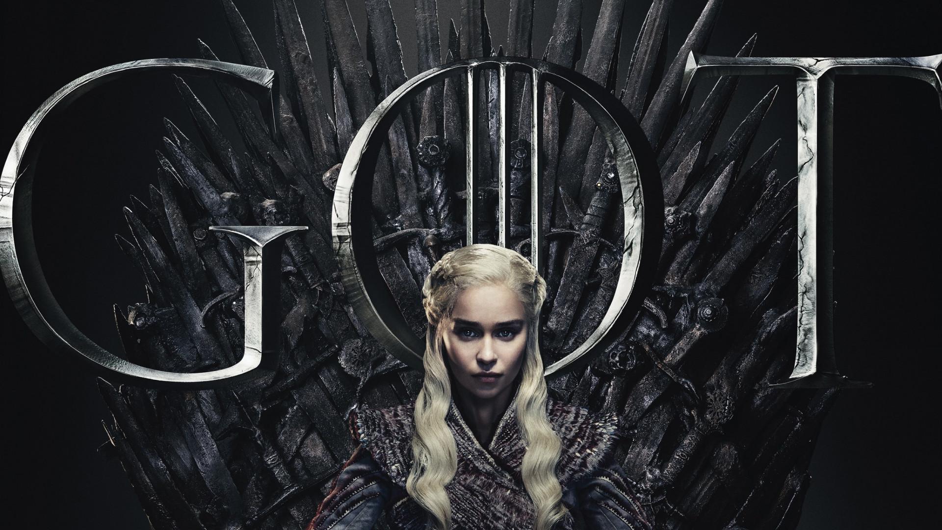 Download Wallpaper Got 8 Daenerys Targaryen Poster 1920x1080