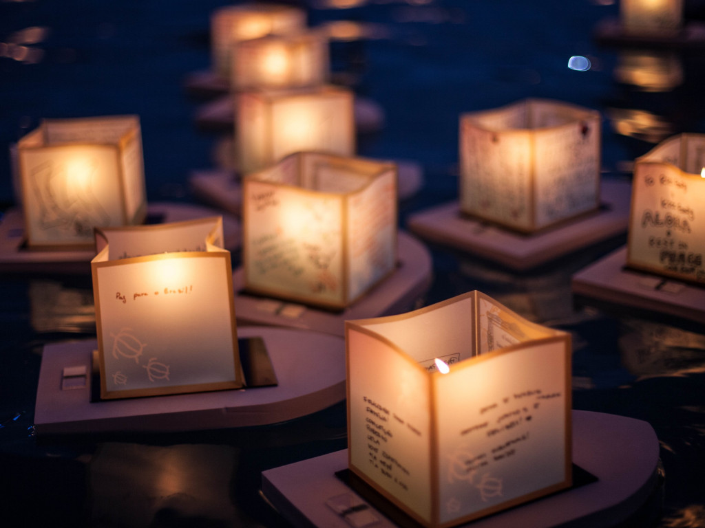 The Lantern Floating Ceremony wallpaper 1024x768
