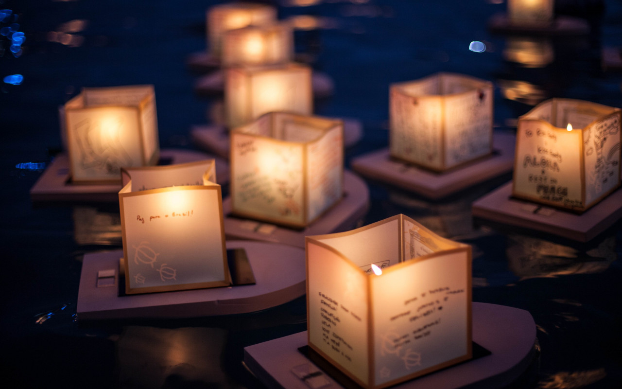 The Lantern Floating Ceremony wallpaper 1280x800