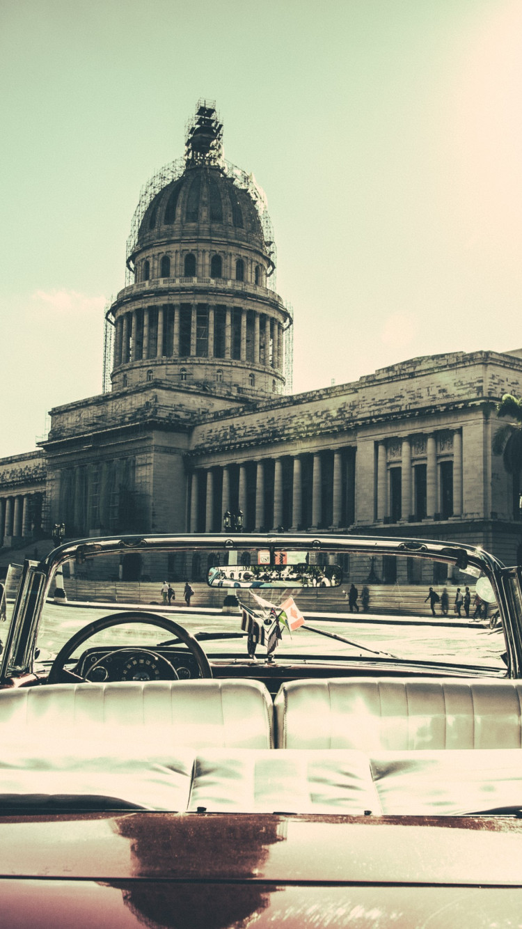 Havana City, Cuba wallpaper 750x1334