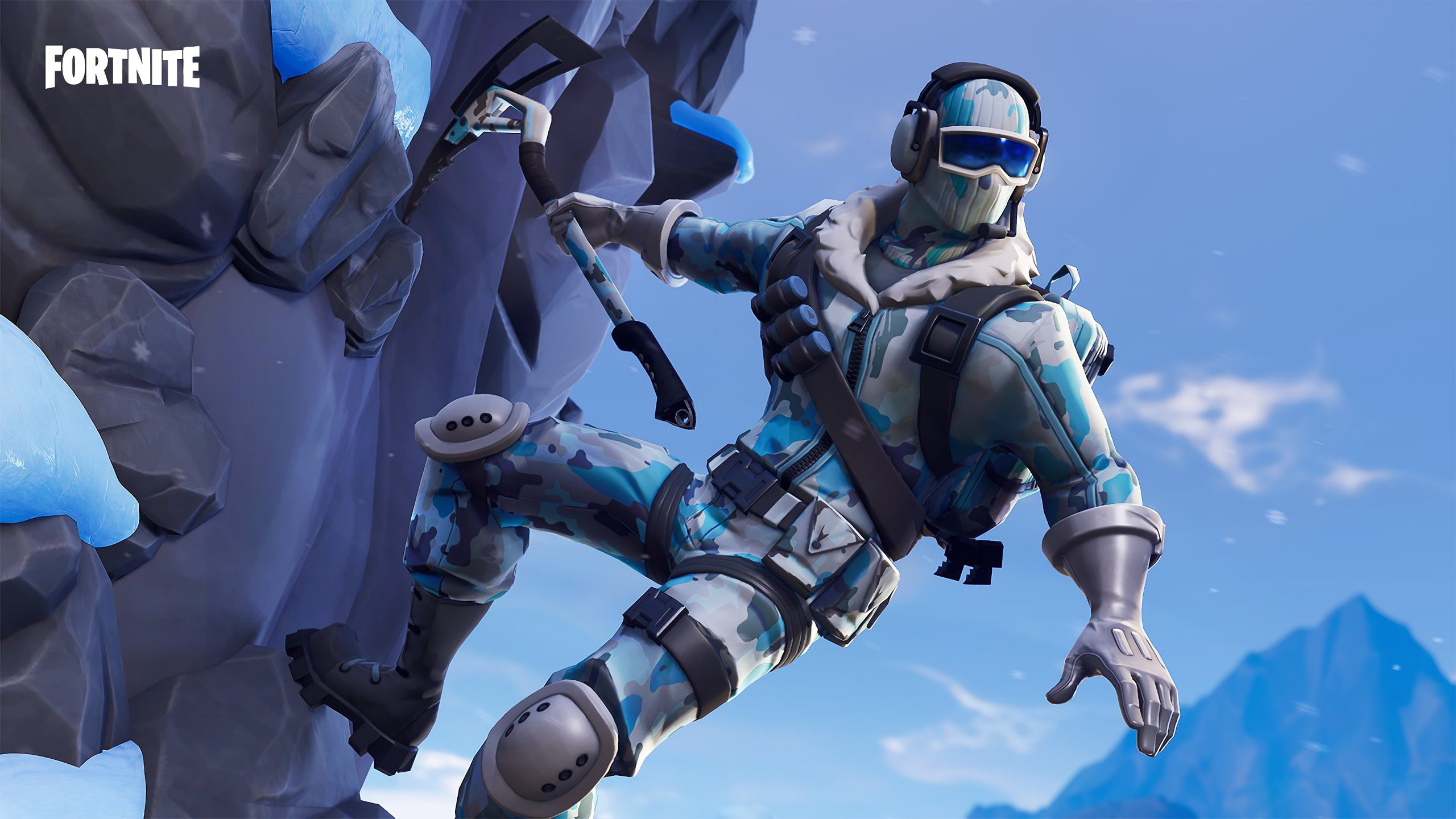 Download Wallpaper Fortnite Deep Freeze Poster 2560x1440