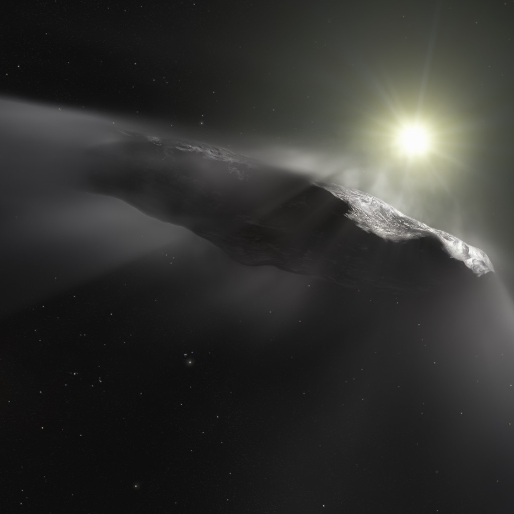 Oumuamua asteroid wallpaper 1024x1024