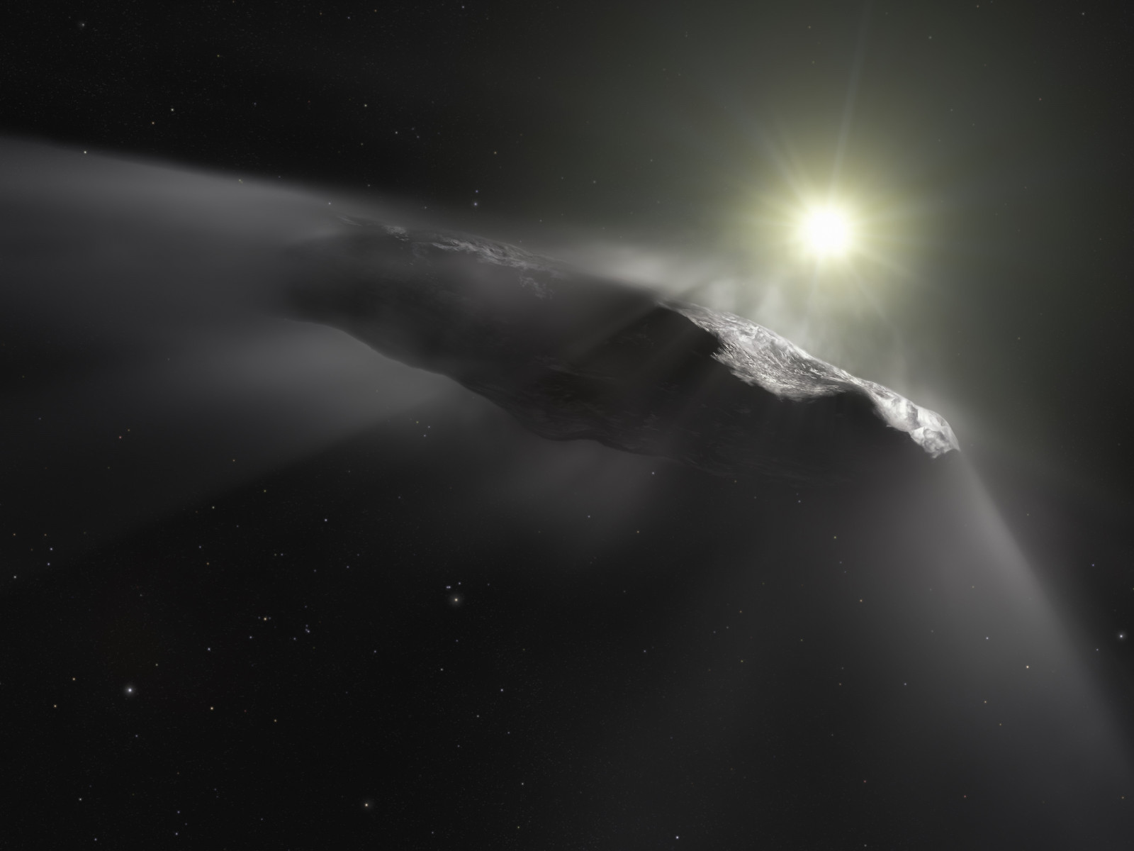 Oumuamua asteroid wallpaper 1600x1200