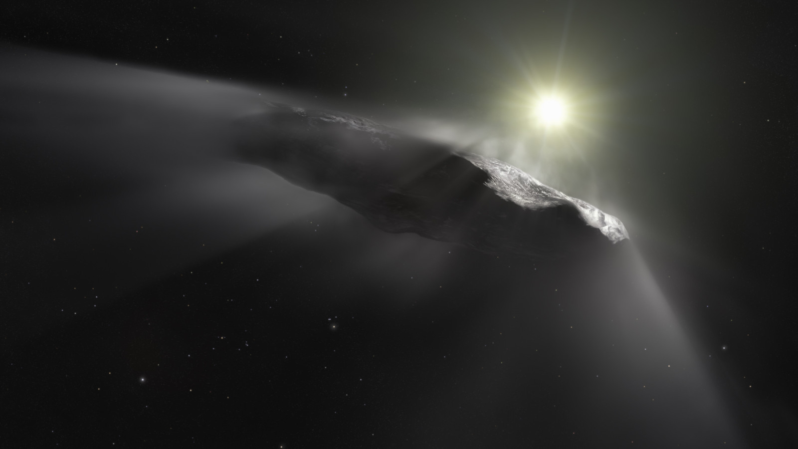 Oumuamua asteroid wallpaper 1600x900