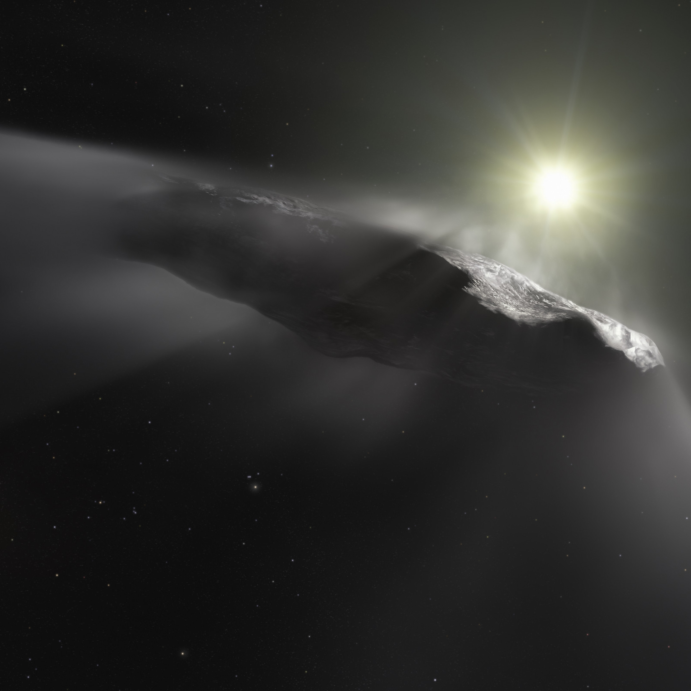Oumuamua asteroid wallpaper 2224x2224