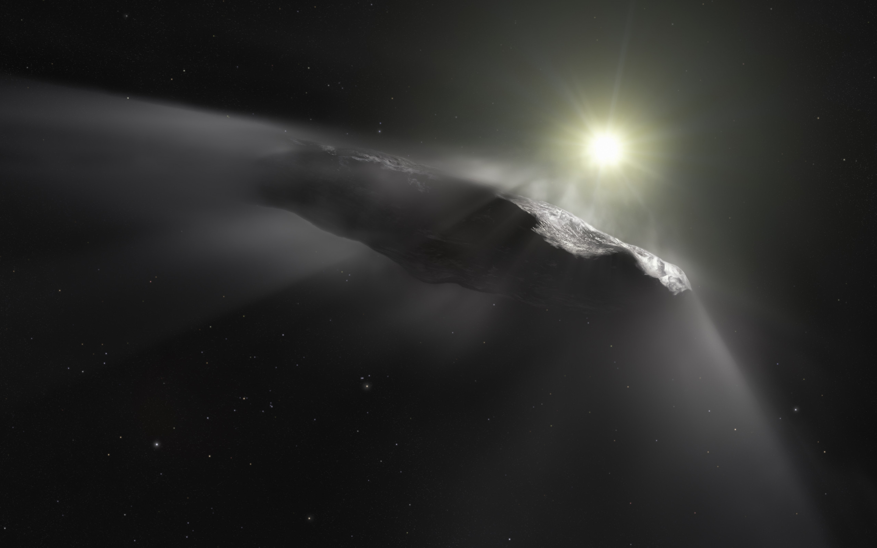Oumuamua asteroid wallpaper 2880x1800