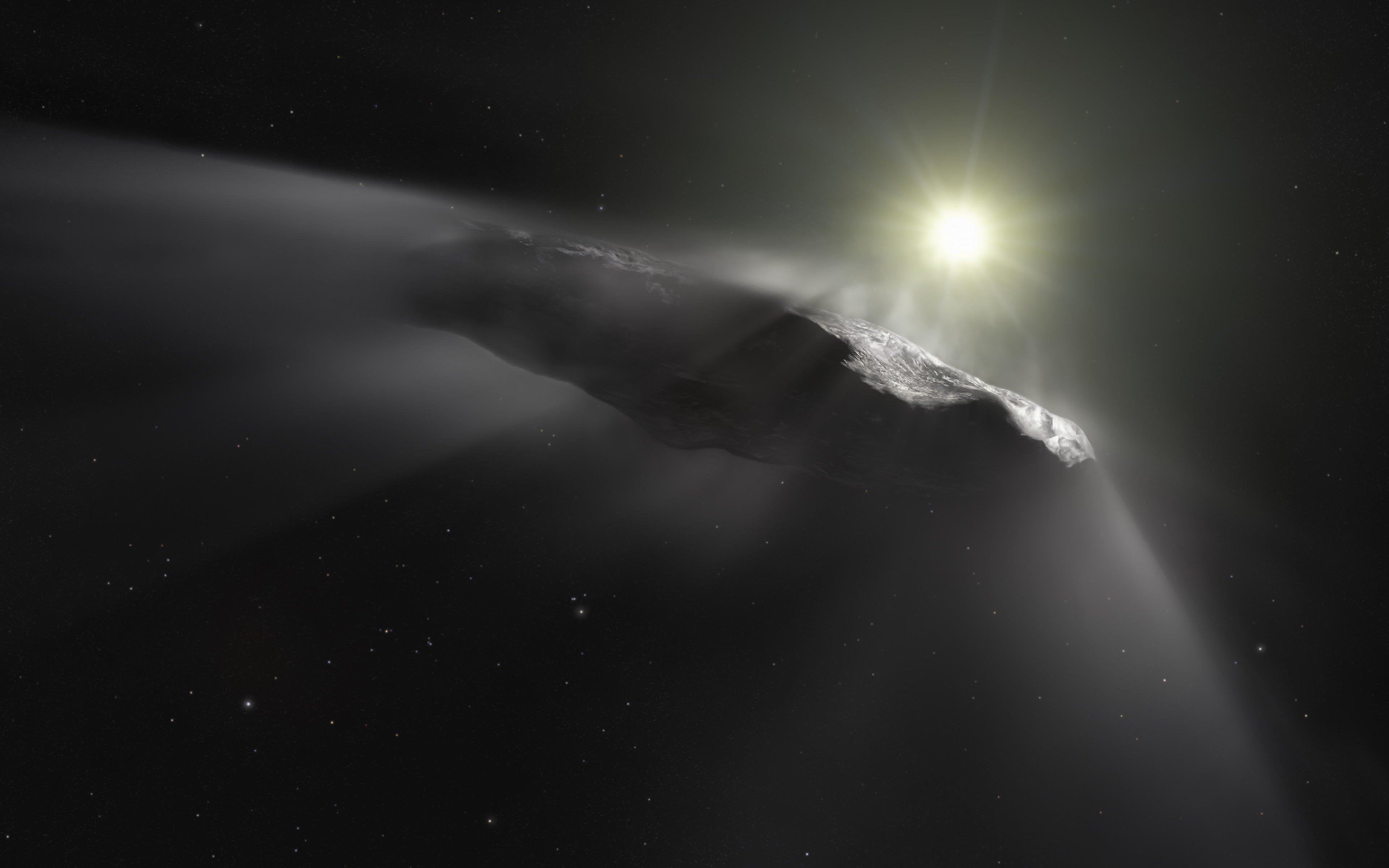 Oumuamua asteroid wallpaper 3840x2400