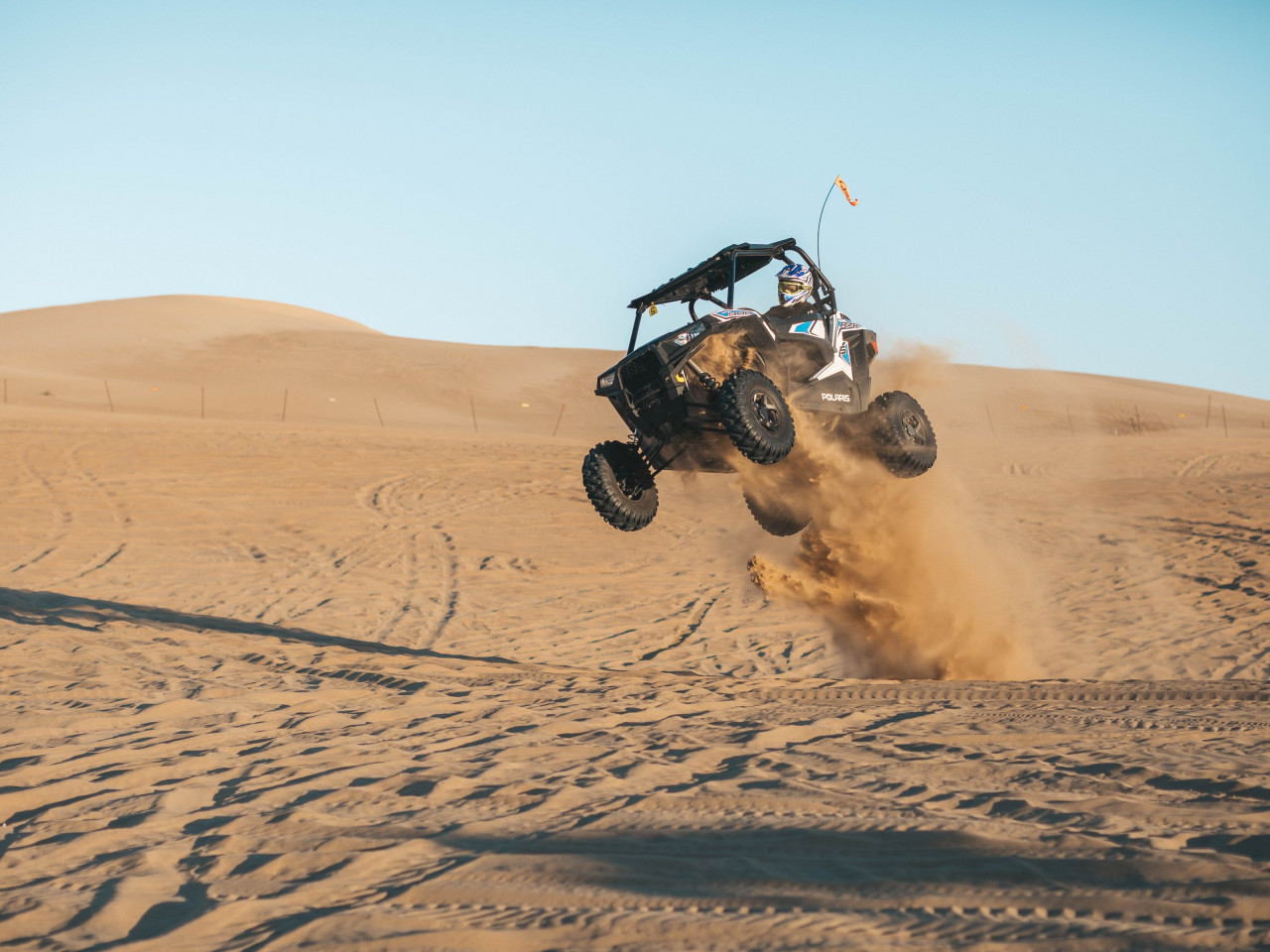With ATV on the the sand dunes wallpaper 1280x960