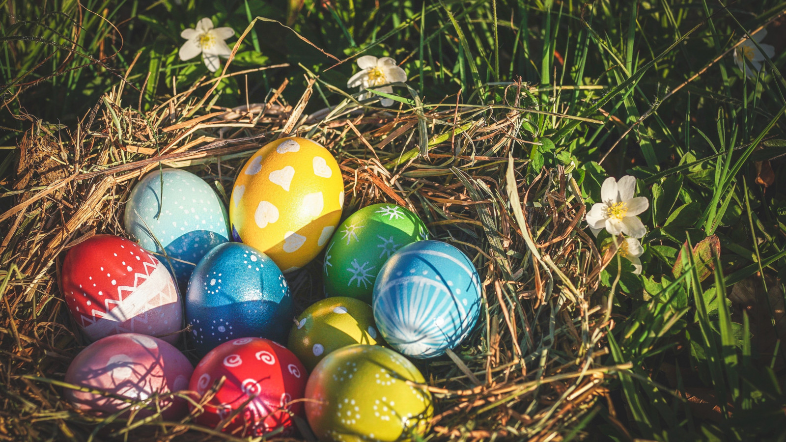 Easter eggs 2019 wallpaper 1600x900