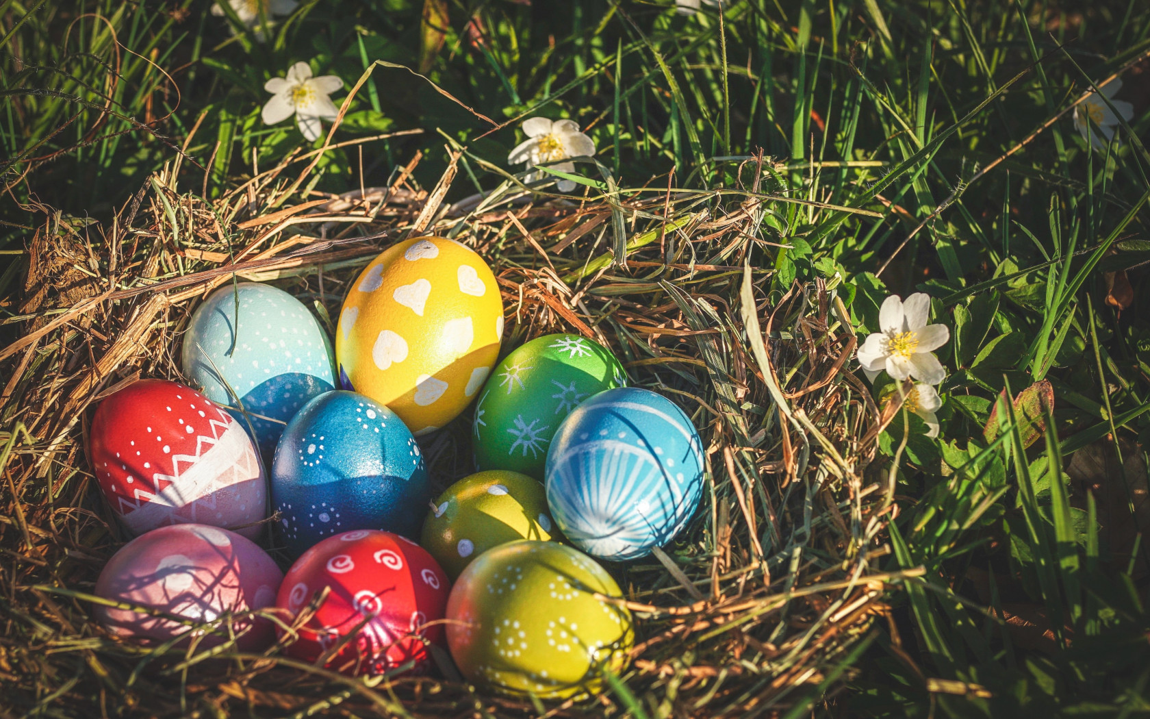 Easter eggs 2019 wallpaper 1680x1050