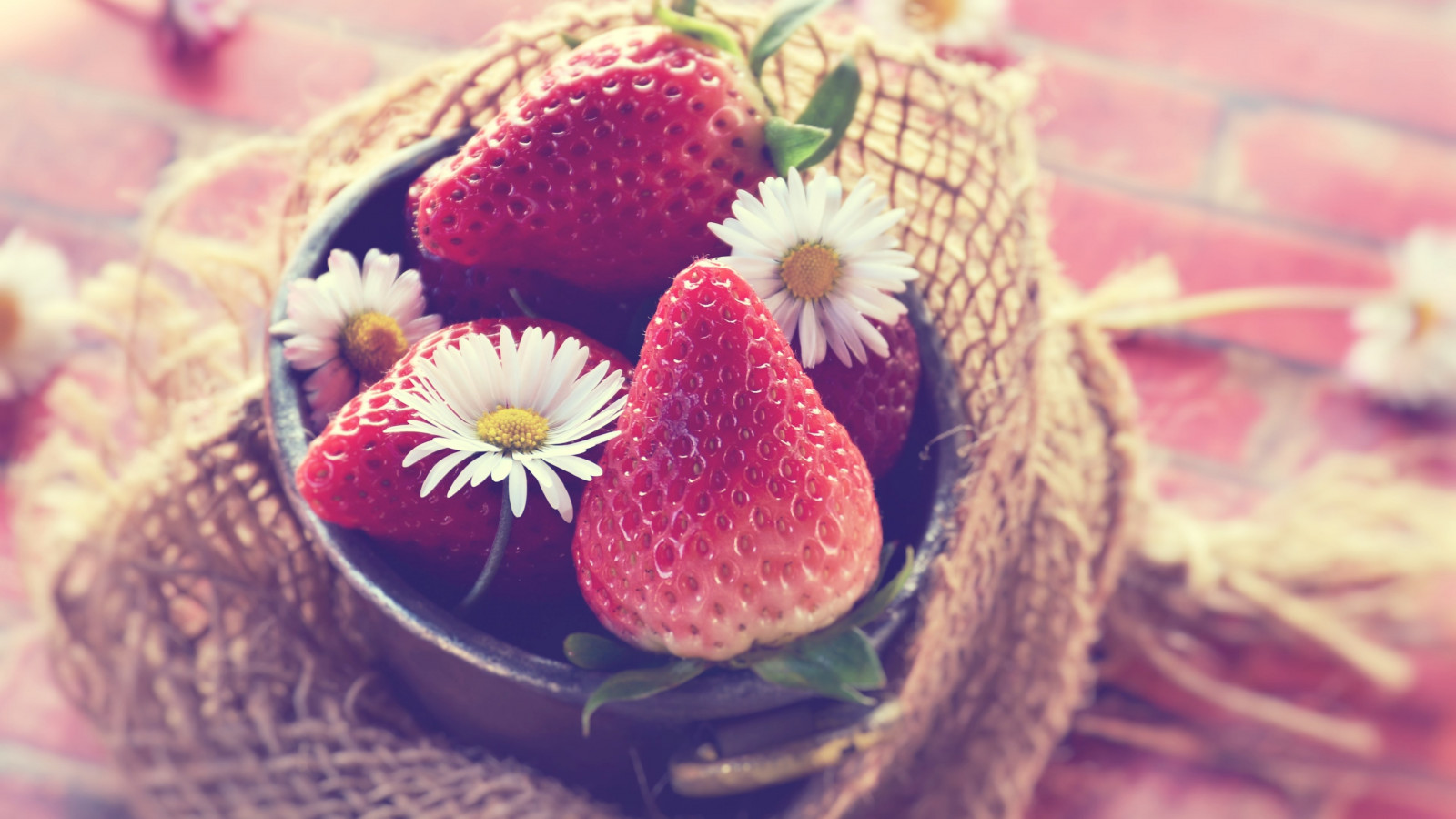 Tasty strawberries wallpaper 1600x900