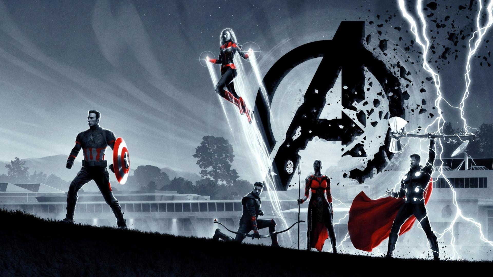 Download Wallpaper Avengers Endgame Poster 1920x1080