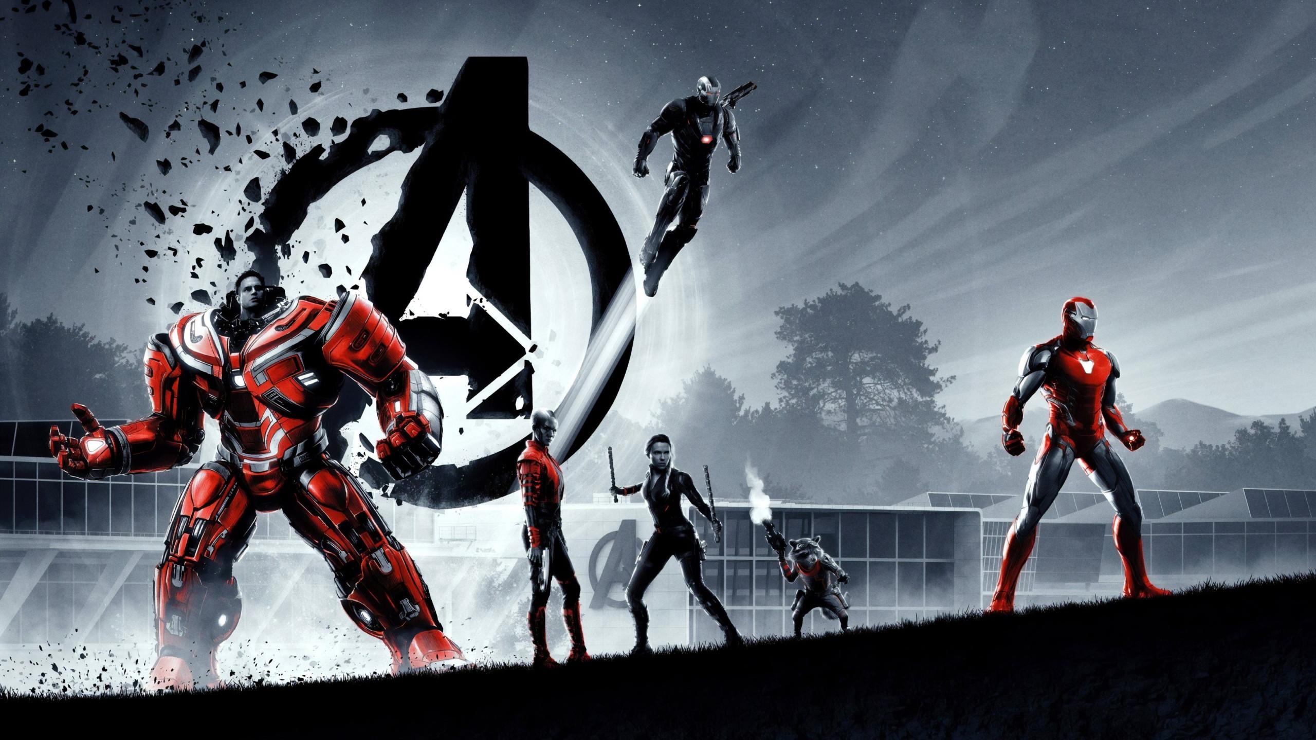 Download Wallpaper Avengers Endgame Superheroes 2560x1440
