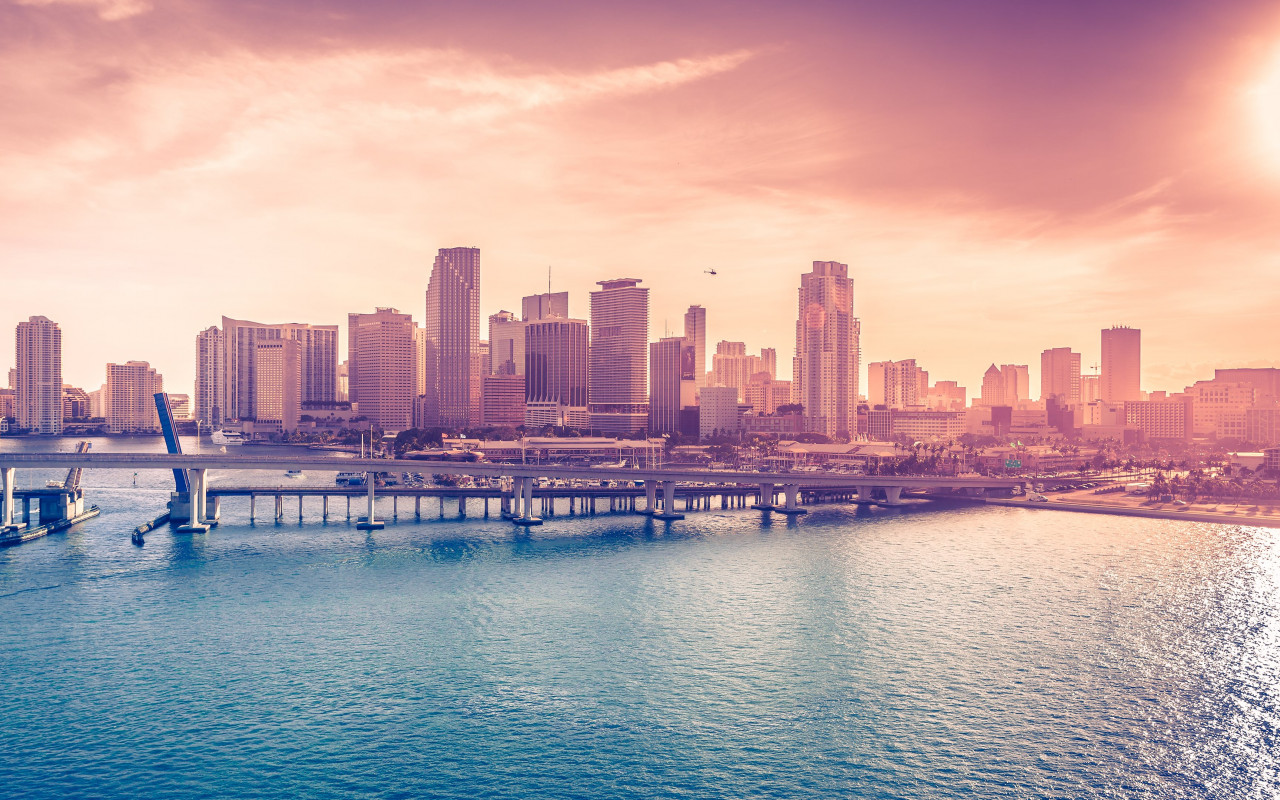 Miami Downtown wallpaper 1280x800