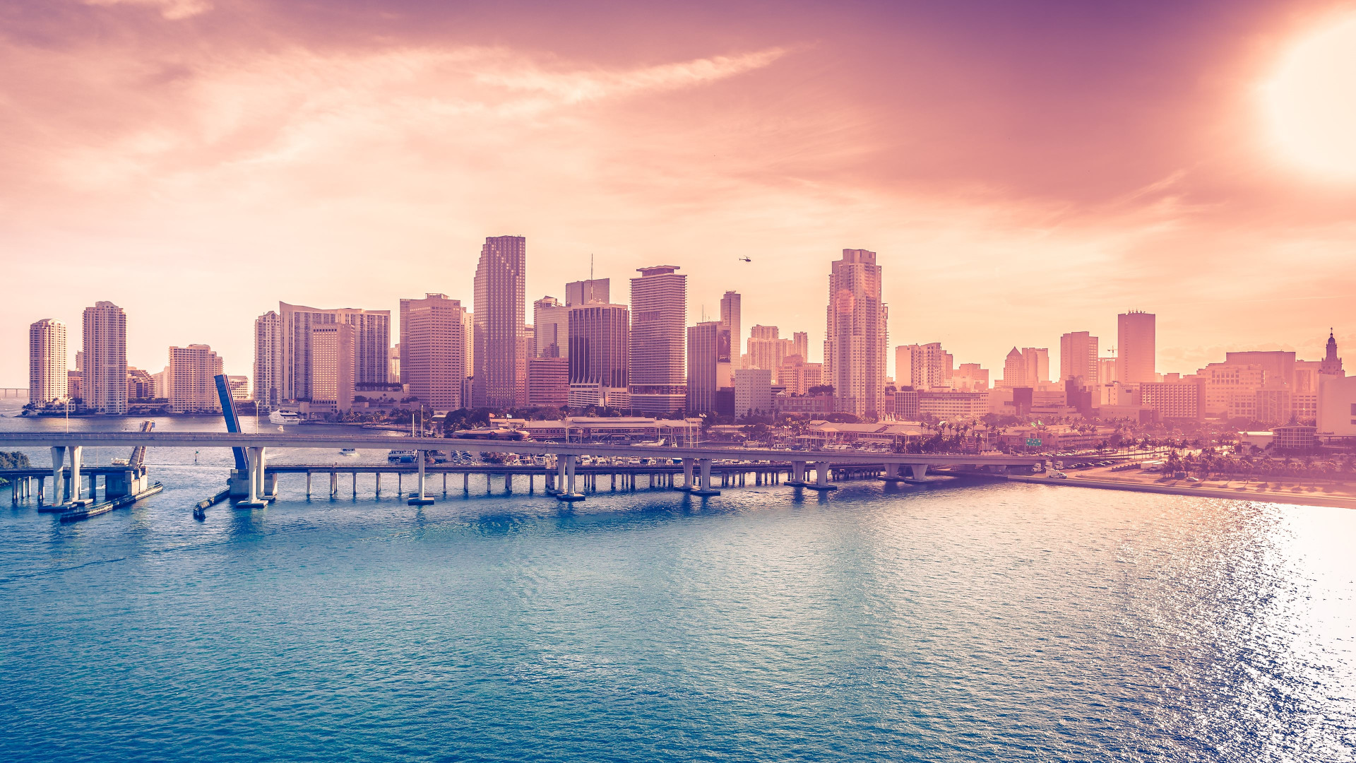 Miami Downtown wallpaper 1920x1080