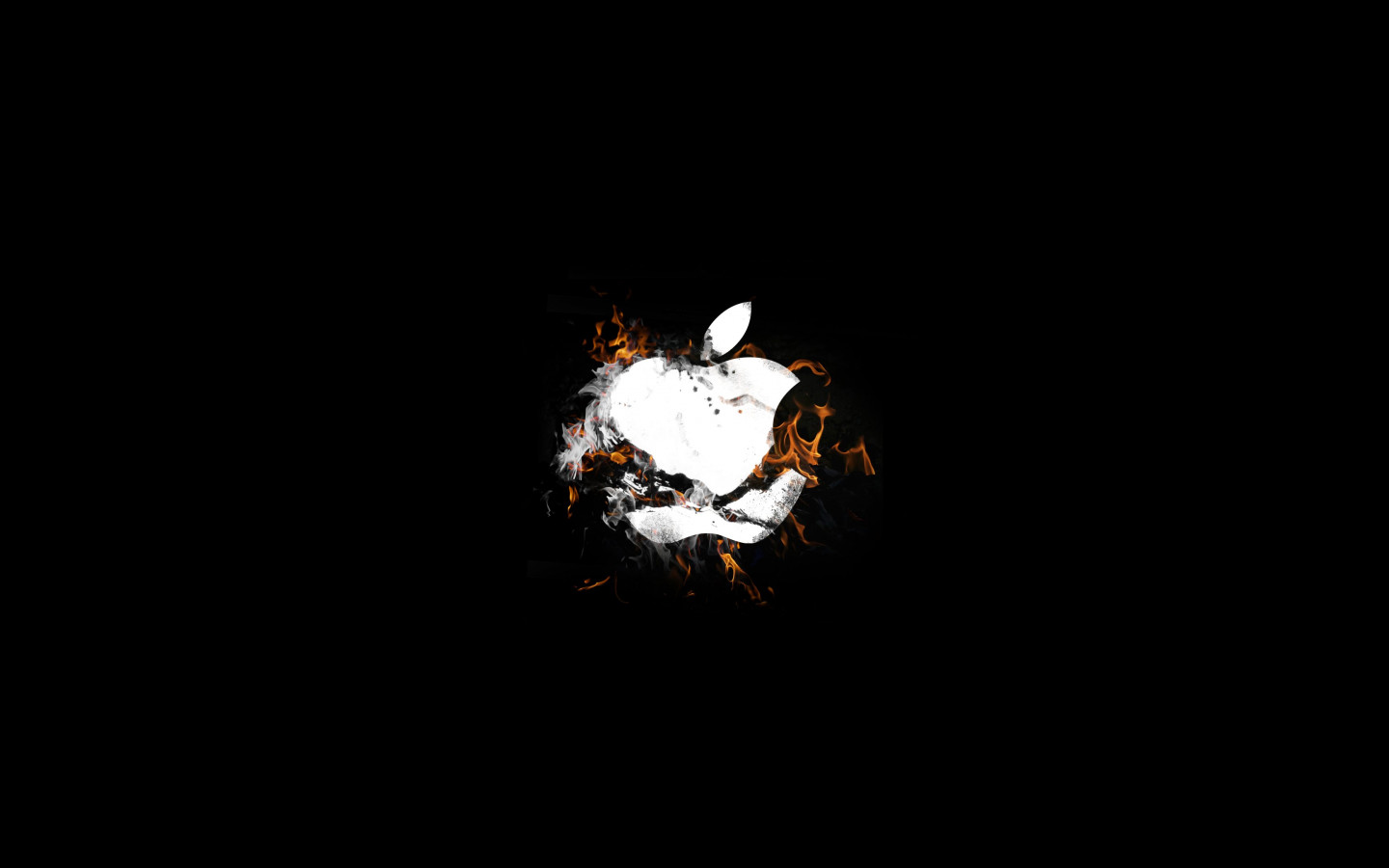 The Apple is on fire wallpaper 1440x900