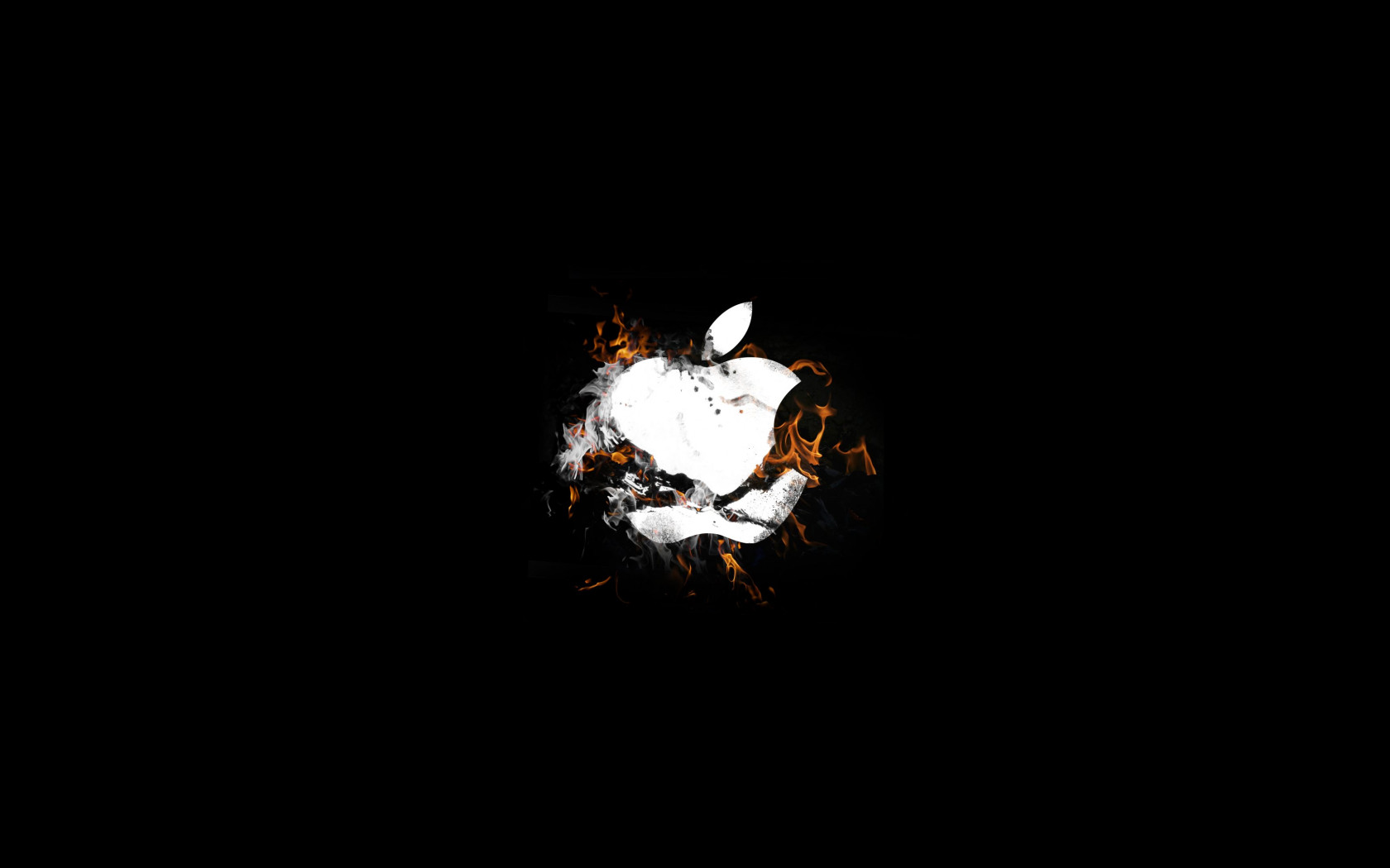 The Apple is on fire | 1680x1050 wallpaper