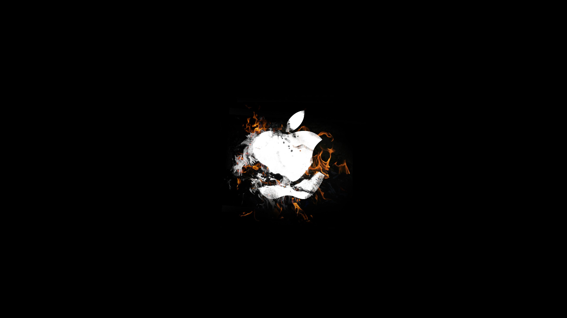 The Apple is on fire wallpaper 1920x1080