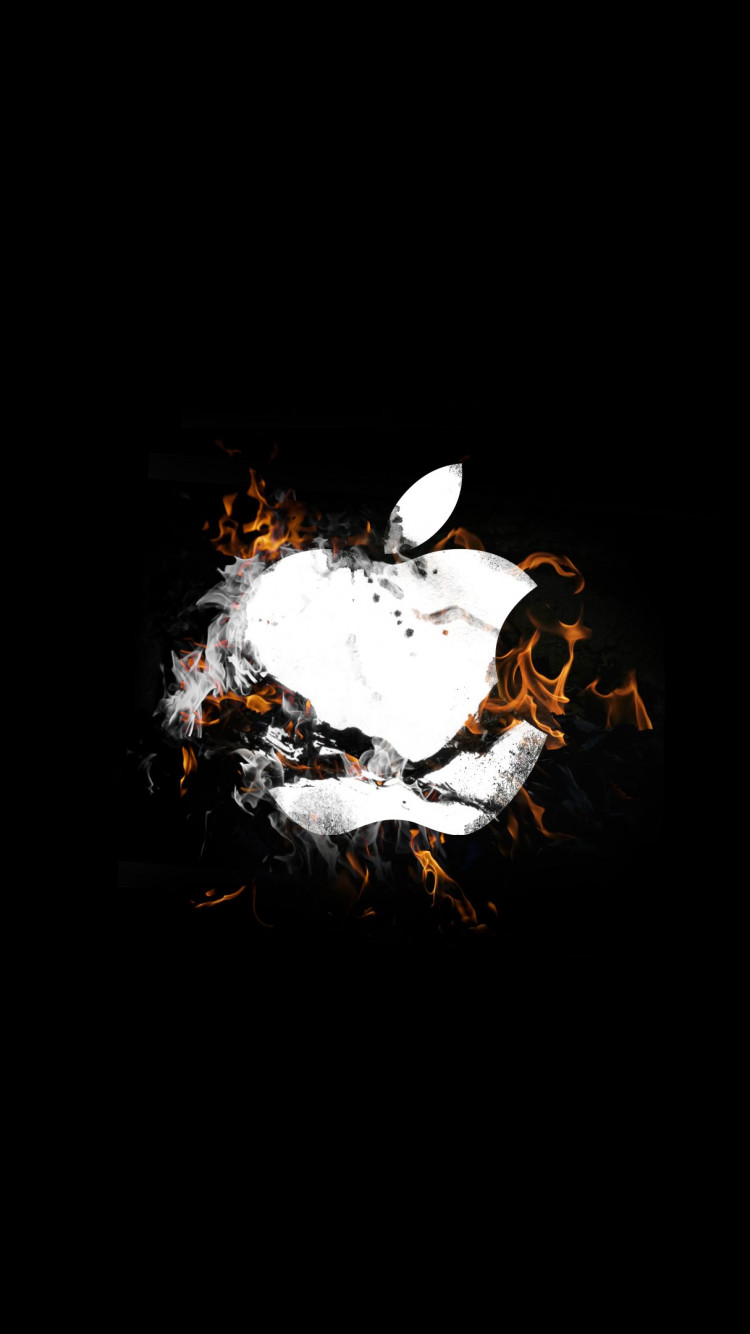 The Apple is on fire | 750x1334 wallpaper