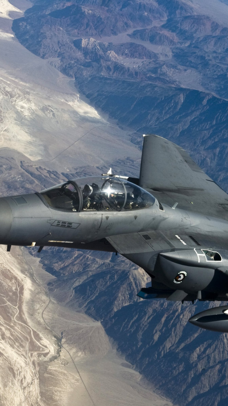 F 15 Strike Eagle wallpaper 750x1334